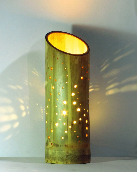 Bamboo bedroom lamp with dna style pattern and cozy glow bamboo bamboozledesign lamp bamboo table lamp with dna style pattern by bamboozledesign on etsy https aloadofball Choice Image