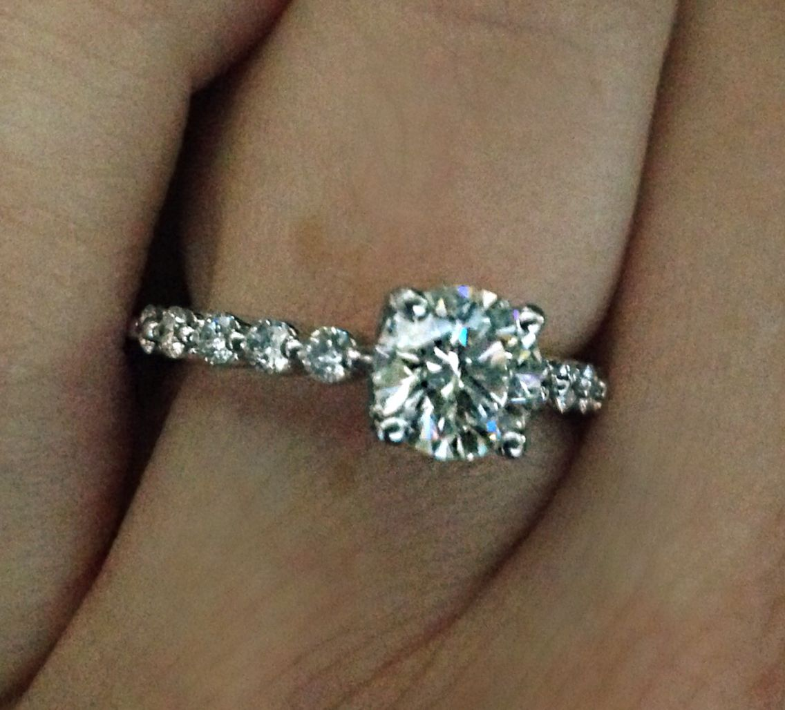 My Ring! Solitaire Engagement Ring With A Diamond Band Floating Diamond  Band #