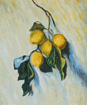 Branch of lemons by Claude Monet Van-Go Paint-By-Number Kit