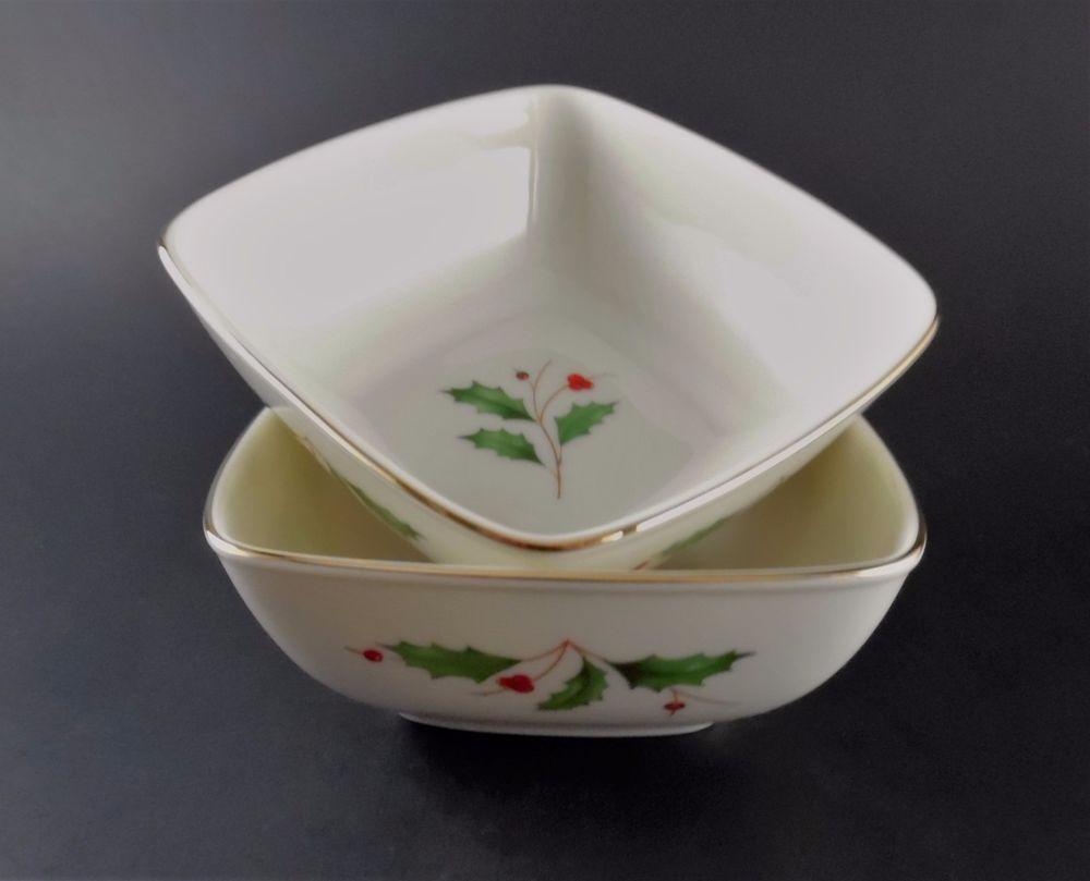 Lenox Holly Dipping bowls