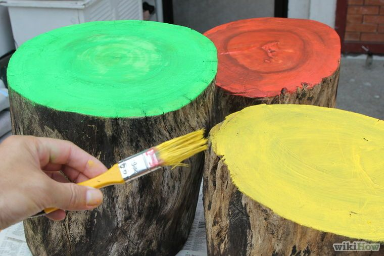 How to Create Glow in the Dark Log Campfire Stools | Glow ...