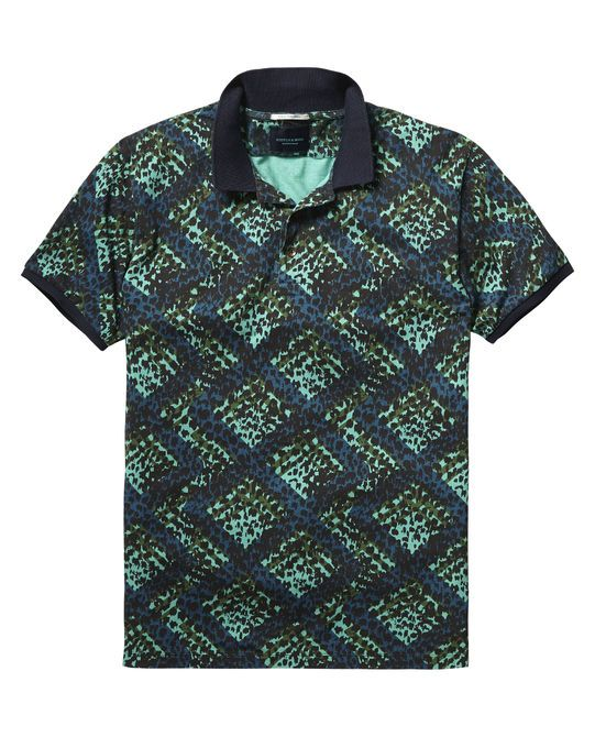 Printed Polo Shirt  ca508d5e233