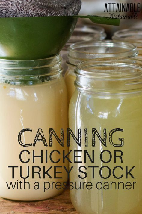 Homemade stock is simple to make. With a pressure canner, you can easily make it a ready-to-use shelf stable pantry item.
