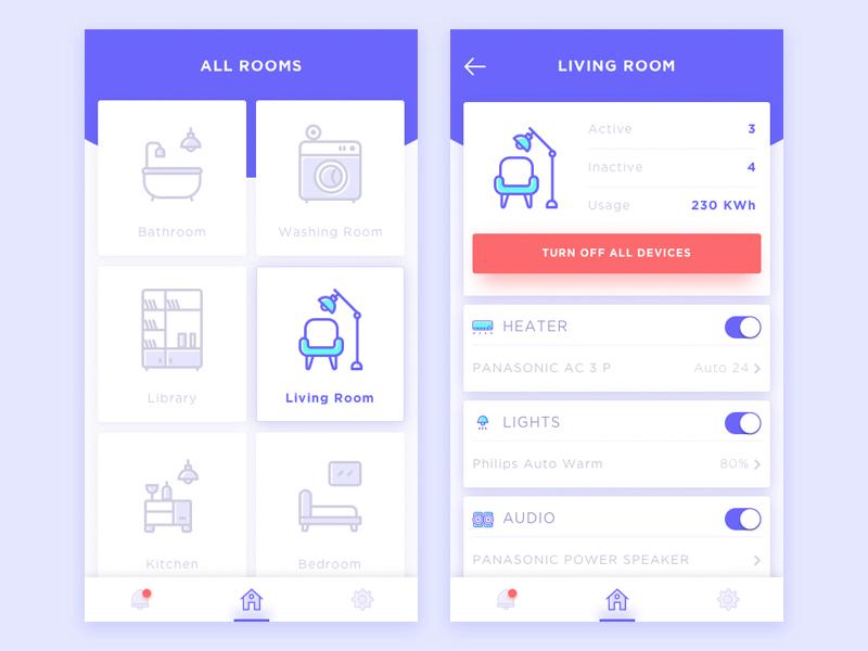 30 Inspiring Examples Of Smart Home App App Interface App Design Mobile App Design