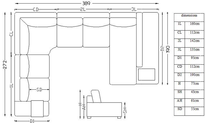 Canapé Dangle Tissu Design Panoramique Avec Lumière Fritsch - Canape tres design