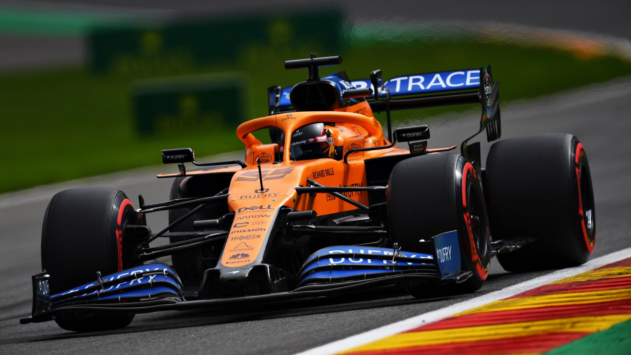 Carlos Sainz S Belgian Grand Prix Over Before It Starts After Exhaust Failure On Lap To Grid Formula 1 Grand Prix Cars Belgian Grand Prix Grand Prix