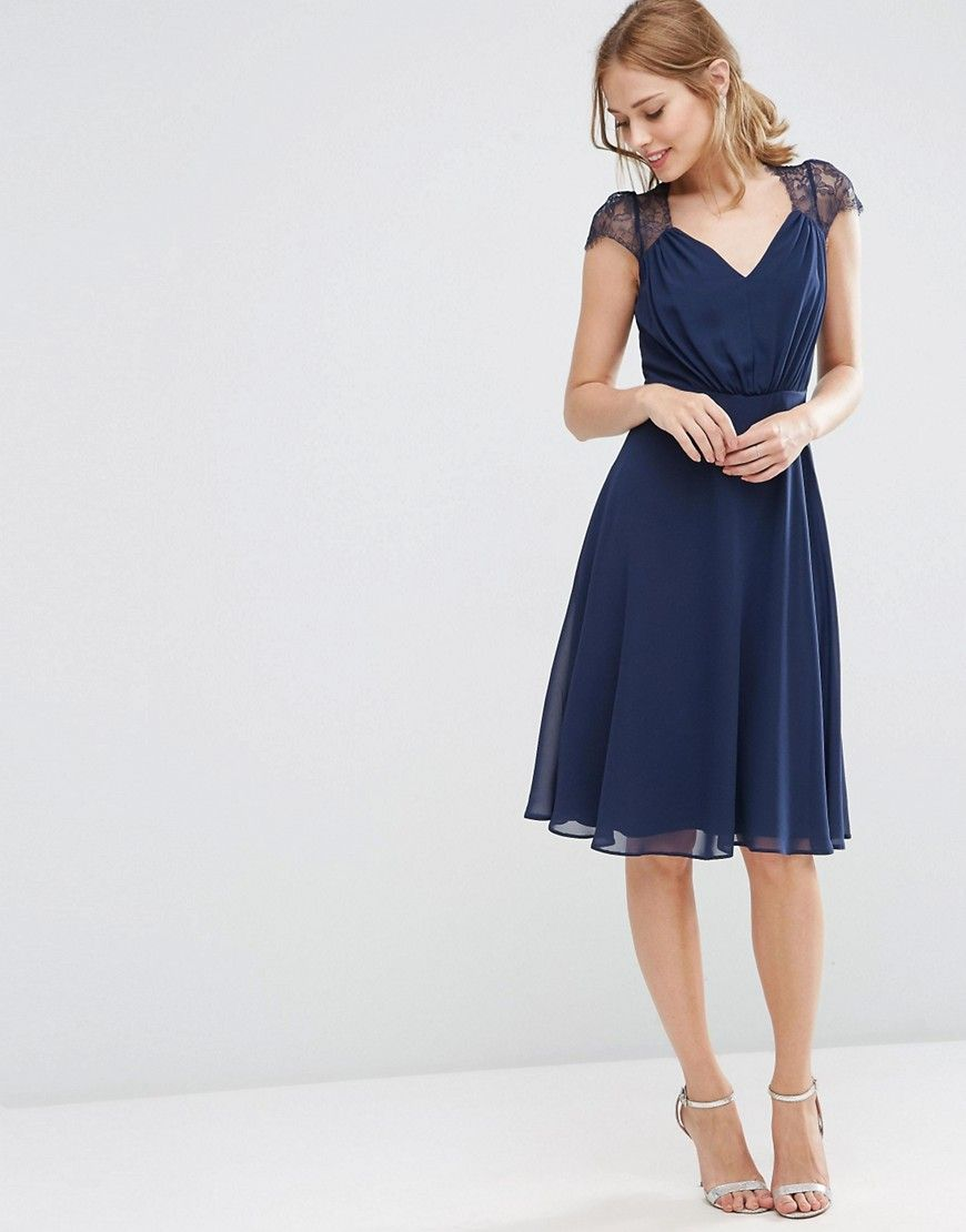asos kate lace midi dress at asos | kleider hochzeit