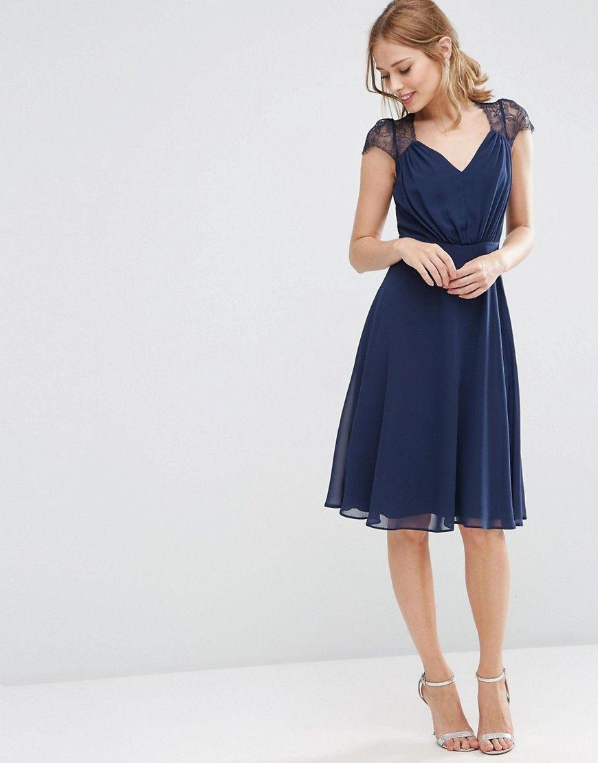 Bild 1 von ASOS – Kate – Spitzenkleid in Midi-Länge   Kleider ...