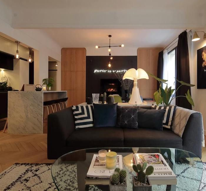 Appartement chic au coeur de paris - Clem Around The Corner - Blog - idee deco salon appartement