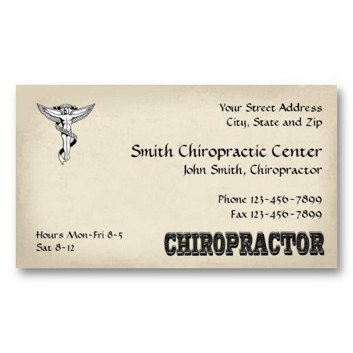 Chiropractor Chiropractic Business Card