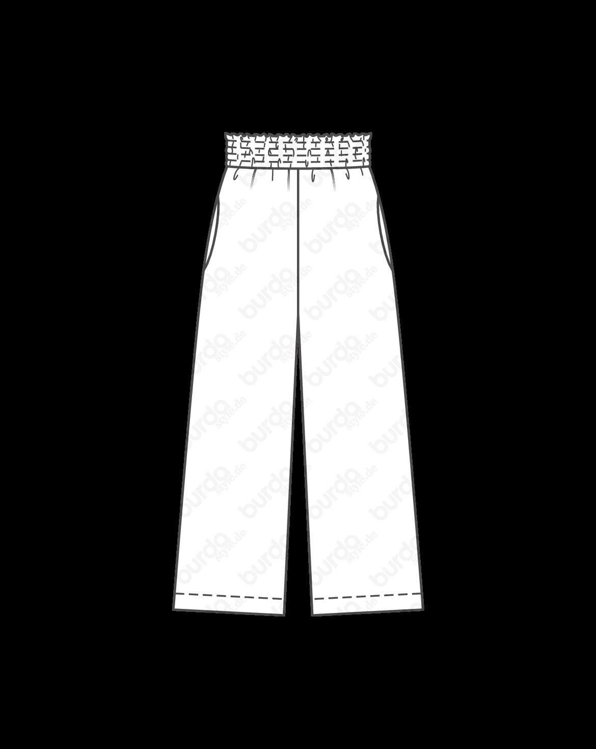 Weite Hose 06 2019 116 Schnittmuster Damen Mode Zum Selbernähen Weite Hosen Hosen Weite Hosen Damen