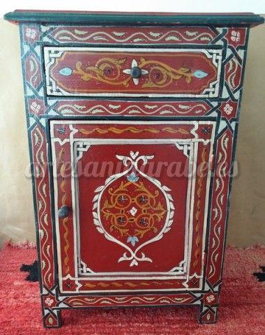 Mesa de madera oriental estilo rabe artesan a rabe y - Muebles estilo arabe ...