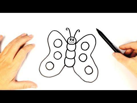 Como Dibujar Una Mariposa Para Ninos Dibujo Facil De Una Mariposa Paso A Paso Youtu Mariposas Faciles De Dibujar Como Dibujar Mariposas Trucos Para Dibujar