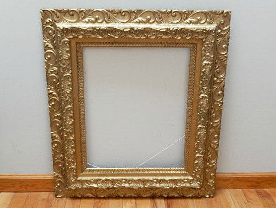 antique wooden picture frame/large picture frame/Victorian/ornate ...