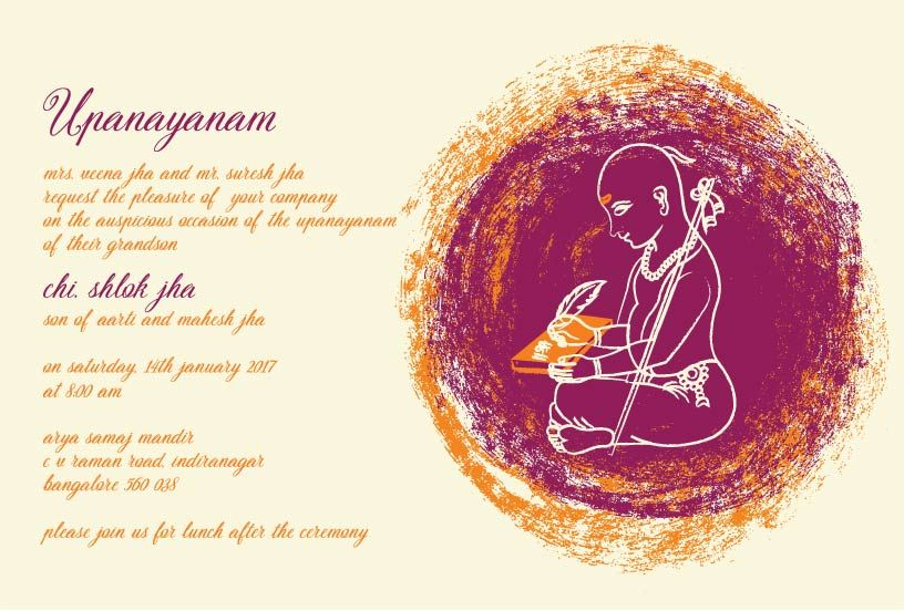 Thread Ceremony Invitations Circle Of Wisdom Violet 1 In
