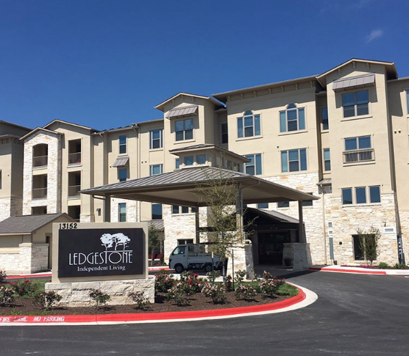 Ledgestone Independent Living Officially Opened Last Month 119 Unit Luxury Senior Living In Drippin Independent Living Senior Living Senior Living Communities