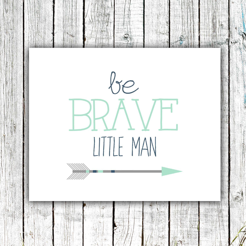 Elephant nursery wall art print mom baby dad by rizzleandrugee - Baby Boy Art Nursery Printable Wall Art Be Brave Little Man
