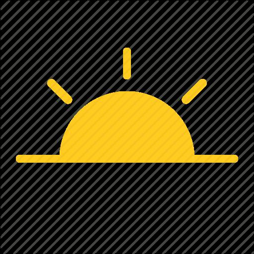 Morning Sun Sunrise Sunset Weather Icon Download On Iconfinder Weather Icons Icon Sunset