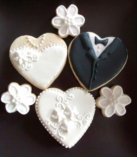 Wedding bite size favor// bite size sugar cookie// bite wedding favor// 2 dozen