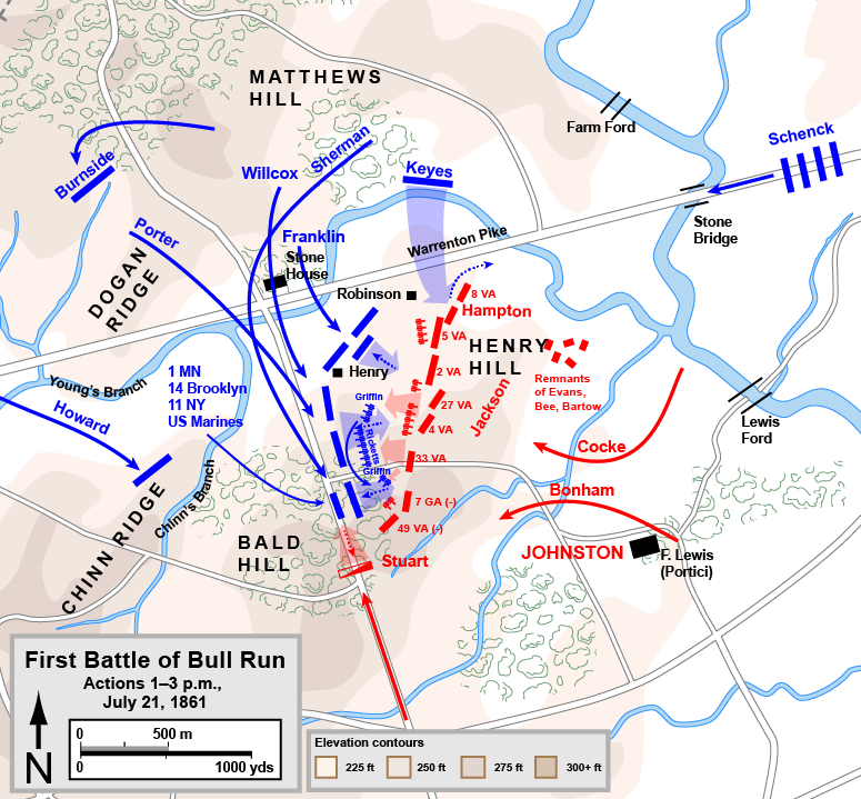 The Battle Of Bull Run Until Col William T Sherman - Ft henry on us map