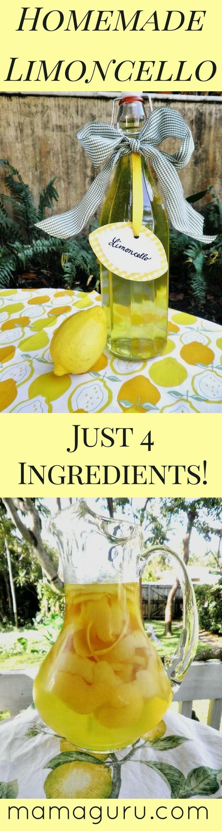 Authentic Italian Recipe for Limoncello • Mamaguru #homemadechristmasgifts