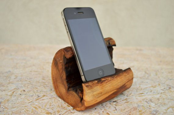 Handcrafted iPhone Station  Wooden iPhone Charging Station  Wooden iPhone Dock Oak wood iPhone stand.