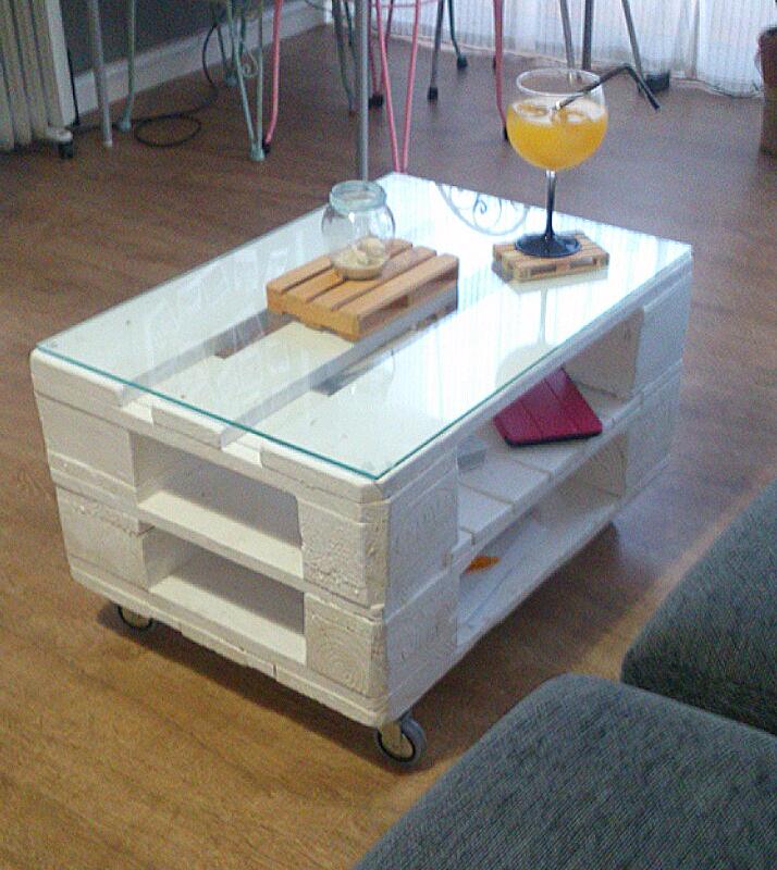 Mesa de centro hecha con palets amaterasu nekodecor - Mesa centro palet ...