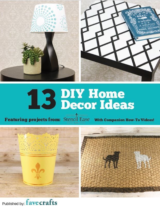 13 Diy Home Decor Ideas Free Ebook From Stencil Ease  Favecrafts.com #favecraftscom 13 DIY Home Decor Ideas free eBook from Stencil Ease  FaveCraftscom  diy decorating - Diy Decorating #FaveCraftscom #Ideas #DiyDecorating #favecraftscom