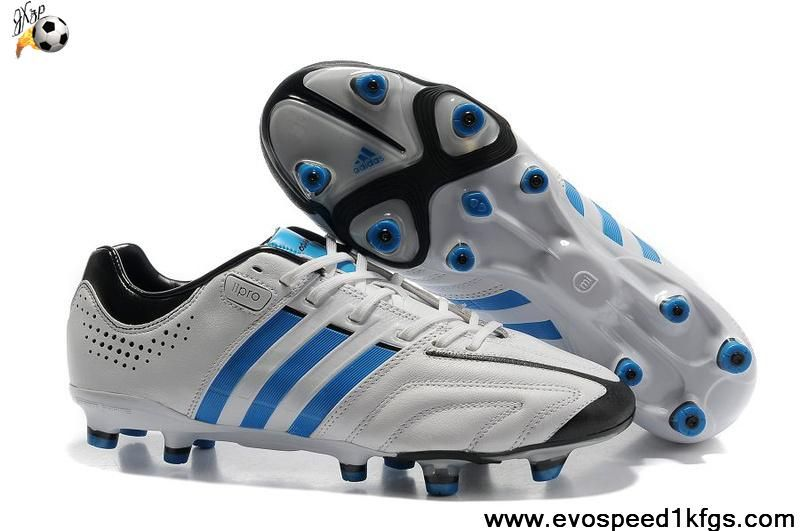sports shoes 801a1 6d6d3 Cheap Discount Adidas Adipure 11Pro TRX FG Running White-Bright Blue-Black