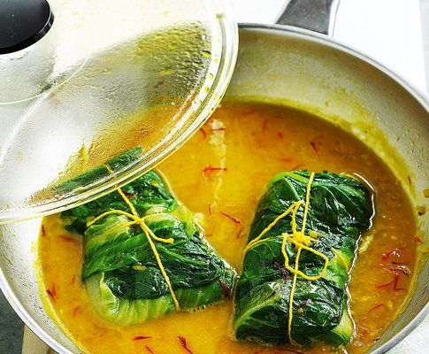 Paupiettes de cabillaud en sauce safran e fish - Cuisiner des paupiettes ...