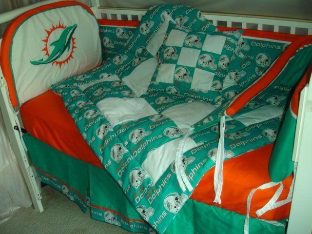 Custom Made BABY Crib Nursery Bedding set m/w Miami ...