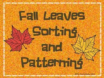 Fall Leaves Sorting Activities Freebie