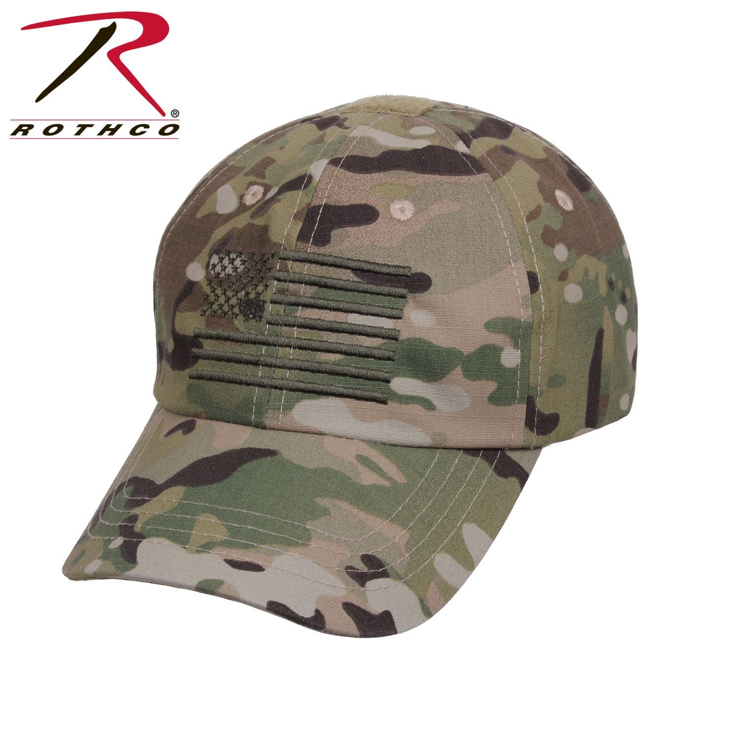 The tactical cap features an embroidered U.S Flag and features 4 reinforced  air vent holes 95f0fe183a6