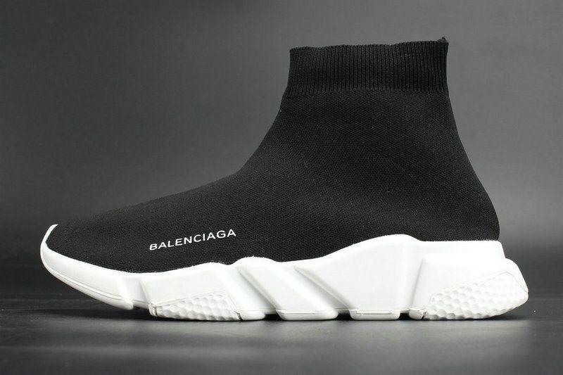 White Stretch Black Speed New Trainer Knit Runner Balenciaga Sock SMUVpzGq