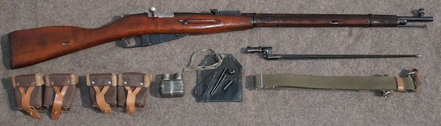 1940 Tula M91-30, German captured and Latvian marked.