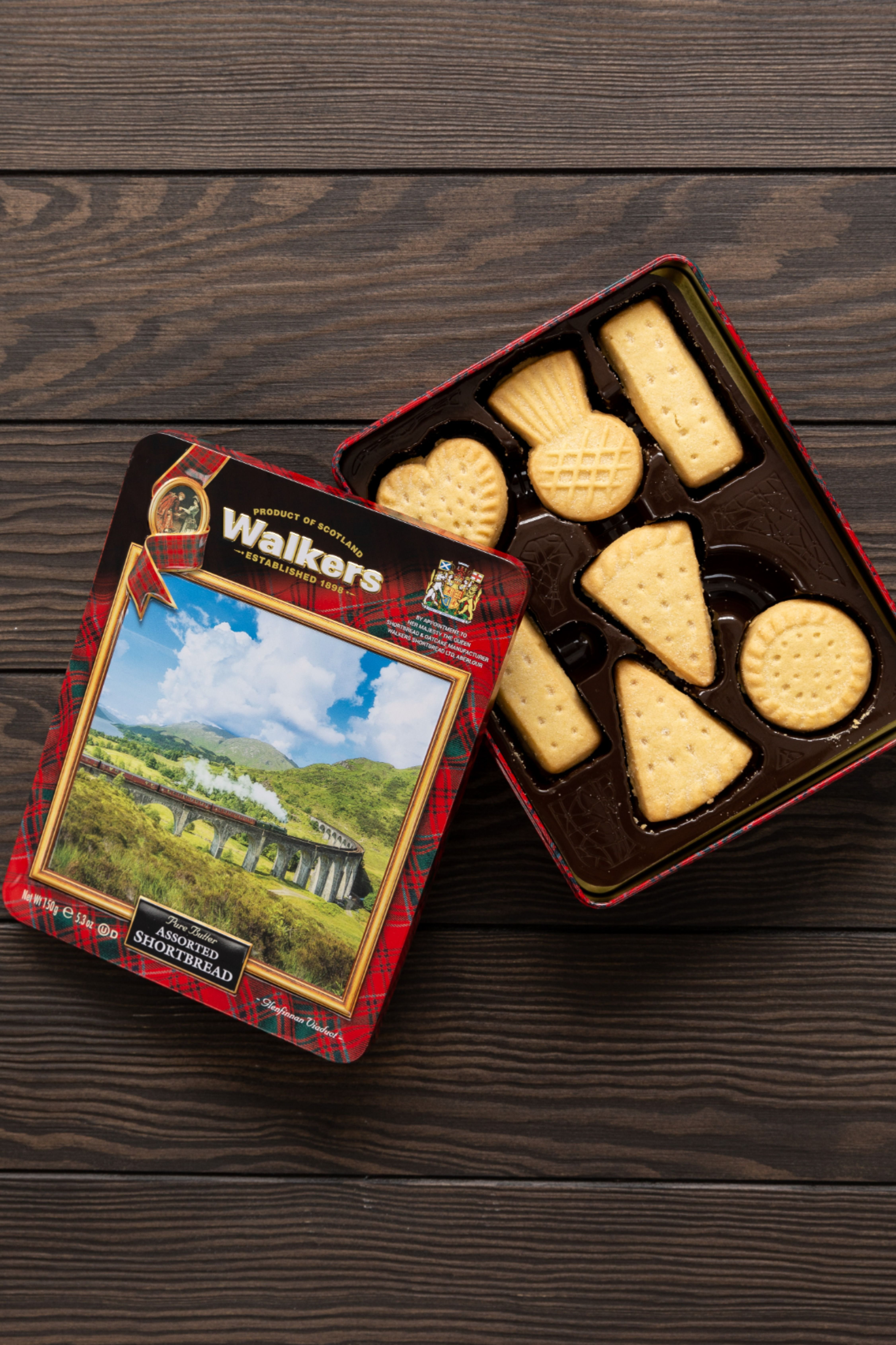 Glenfinnan viaduct shortbread tin in 2020 with images