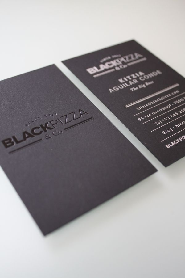 Cartes De Visite By Black Pizza Co Via Behance