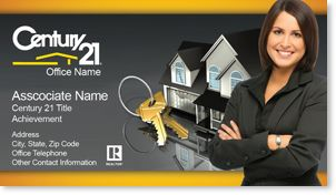 Century Real Estate Agent Business Cards Century Business - Century 21 business cards template