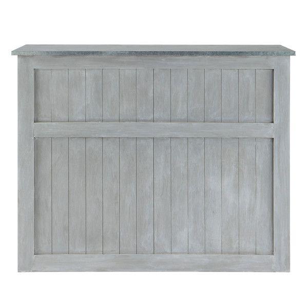 Meuble de bar en bois d\u0027acacia gris L - Zinc
