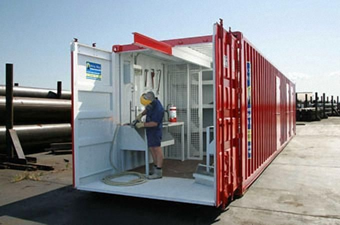 40 Shipping Container Workshop Google Search Shipping Container Workshop Container Buildings Shipping Container