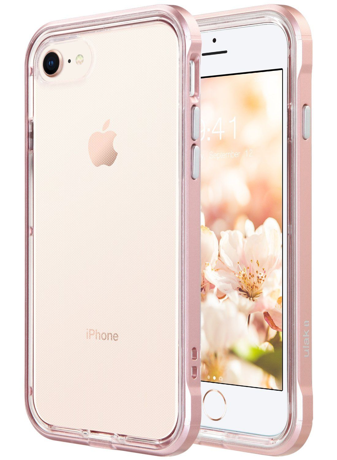 c21a4e6afc iPhone 8 Case, iPhone 7 Case, ULAK Reinforced Frame Crystal Clear Back Cover  Durable