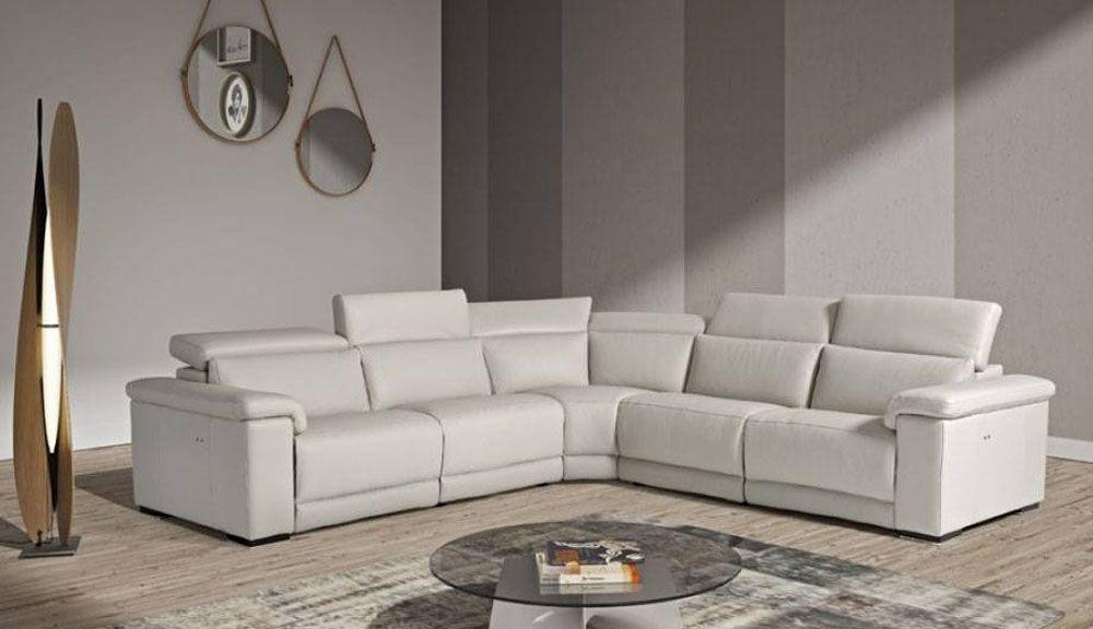 Astounding Elite Reclining Sectional Lounge With Adjustable Headrests Ibusinesslaw Wood Chair Design Ideas Ibusinesslaworg