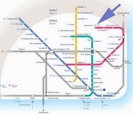 Transportation Options To And From Lisbon Airport Metro Map