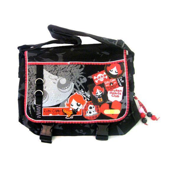 Ruby Gloom Badges Shoulder Bag Gothic Clothing Emo 7 65 Via Polyvore