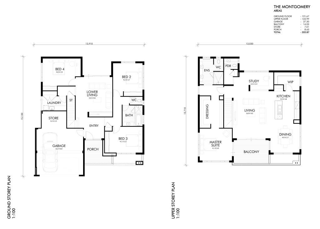 Single And Double Storey Home Designs