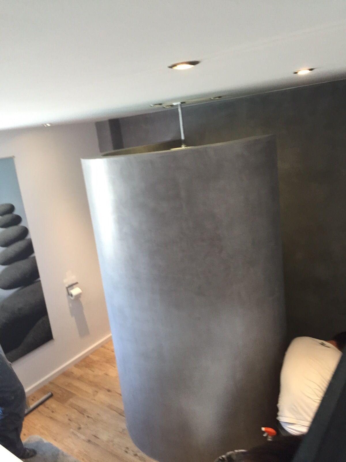 bad beton cire vinylboden used look fugenlos spachteltechnik betonoptik pinterest beton. Black Bedroom Furniture Sets. Home Design Ideas