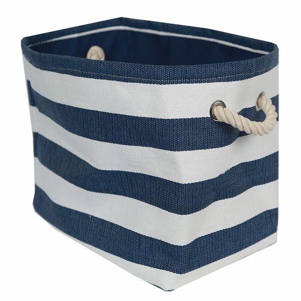 Rugby Stripe Storage Bin, Navy U0026 White   Large, Set Of 2 | The. Blue StripesStorage  BinsDorm ...