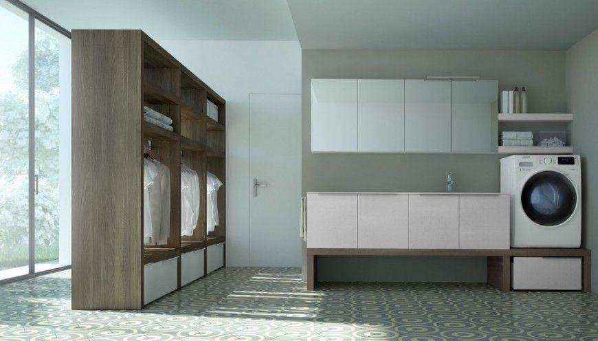 Render arredo bagno lavanderia Spazio Time per Ideagroup - Virtual ...