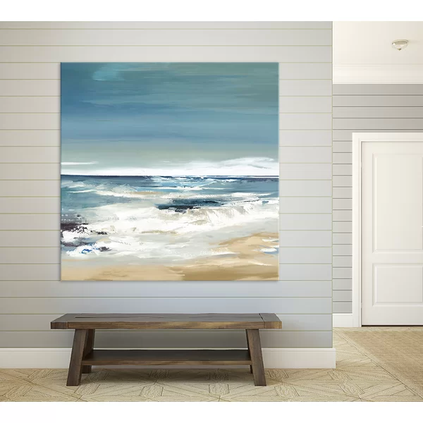 East Coast Ii By Valeria Mravyan Wrapped Canvas Print Beach Painting Nautical Theme Decor Canvas Prints
