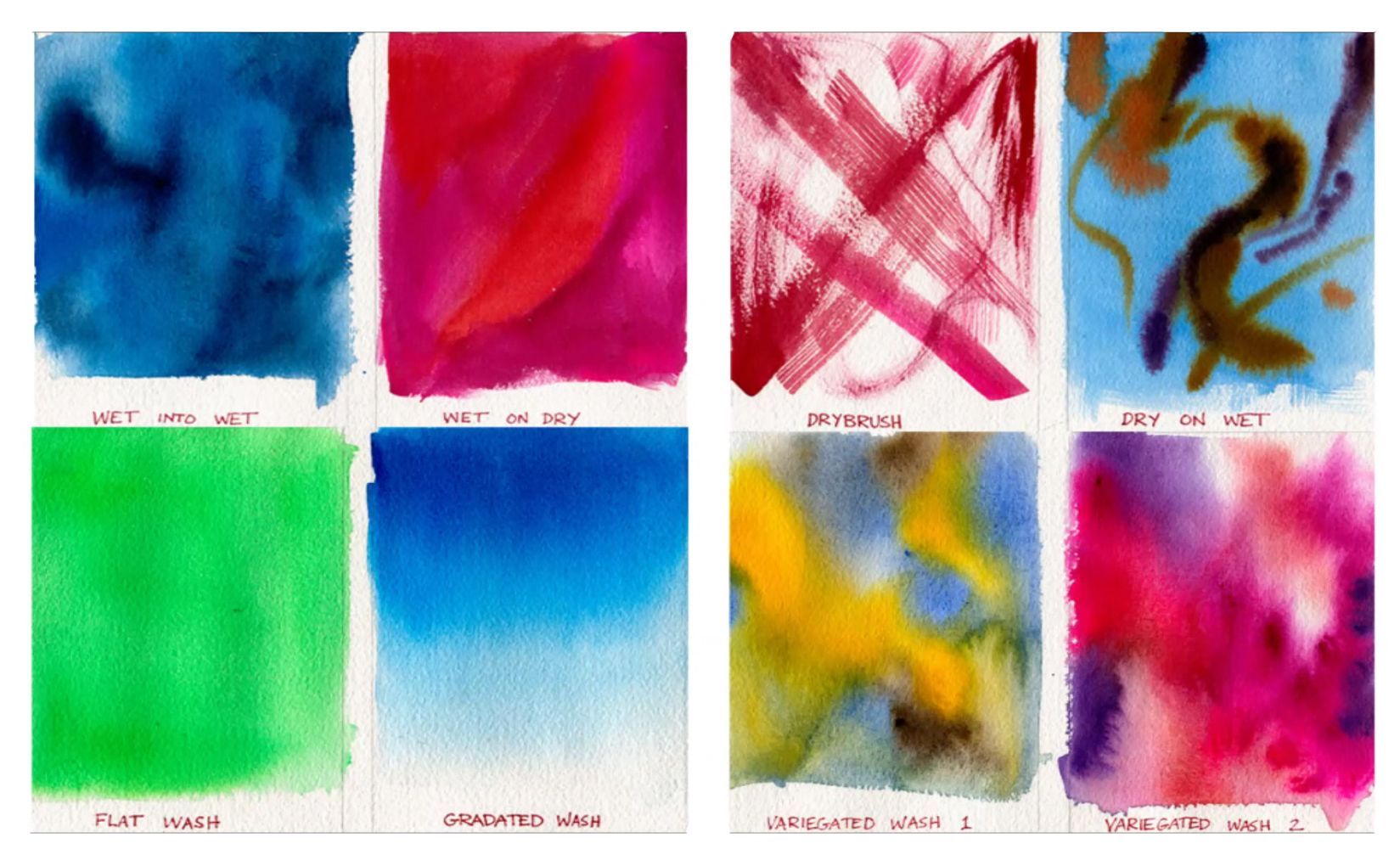 7 mustknow widely used watercolor techniques for